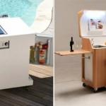 Идеи вашего дома: Кухня размером с тумбочку: крошечные трансформеры для маленькой квартиры, офиса ил...